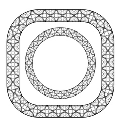 Set of circle decorative frames vector