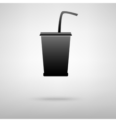 Drink black icon vector