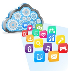 Cloud computing and applications vector