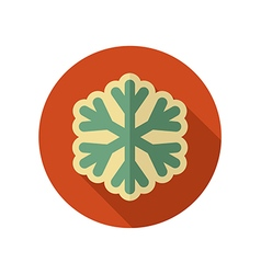 Snowflake snow retro flat icon weather vector