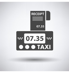 Taxi meter with receipt icon vector