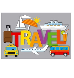 Badges for travel concept vector
