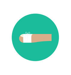 bandaged wound on the finger vector image vector image