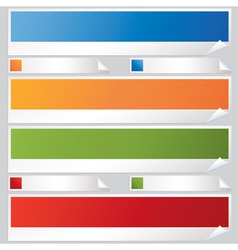 banners and labels vector image vector image