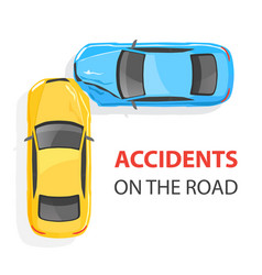 car accident top view vector image vector image