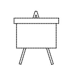 chalkboard tripod study learning blank icon vector image