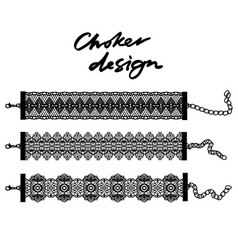 choker design collection of chokers vector image