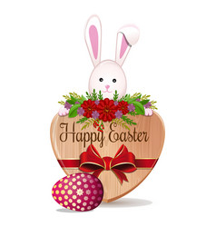 easter design with easter bunny and easter egg vector image vector image