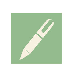 flat pen icon education vector image vector image