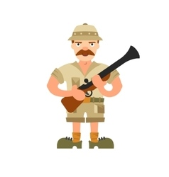 Hunter on isolated background vector image vector image