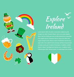 irish concept background set of of vector image vector image