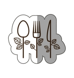 Isolated spoon knife and fork desggin vector