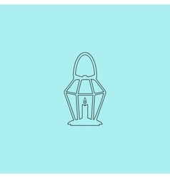 Lantern icon vector
