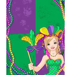 Mardi gras banner vector