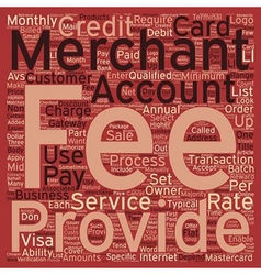 Merchant Account Fees To Business Owners text vector image