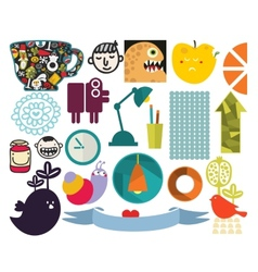Mix of different images vol72 vector