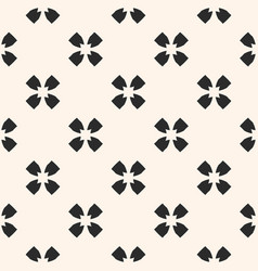 monochrome seamless pattern floral texture vector image vector image