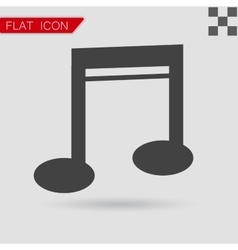 Note Icon Flat Style with red vector image vector image