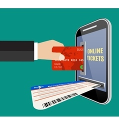 Online tickets ordering concept vector image vector image