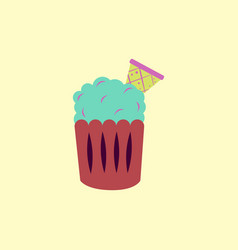 party cupcake dessert vector image vector image