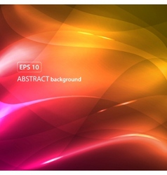 pink yellow abstract waves background vector image vector image