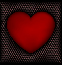 Red heart on dark background vector