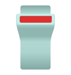 Seat belt button icon cartoon style vector