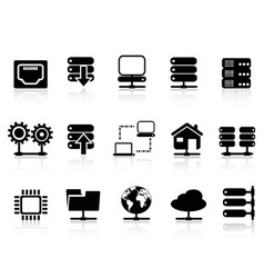 Server and database icon vector