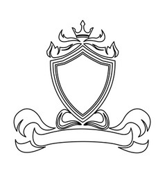 shield crown decoration royal heraldic ornament vector image vector image
