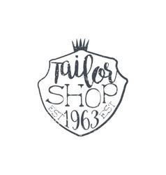 Tailor shop vintage emblem vector