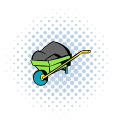 Unicycle trolley icon comics style vector
