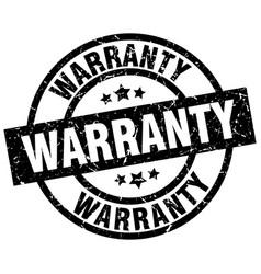 warranty round grunge black stamp vector image