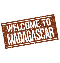 Welcome to madagascar stamp vector