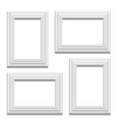 White classis frame set on the wall vector