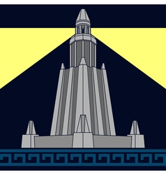 lighthouse of alexandria third variant vector image