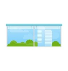 Window with jalousie vector