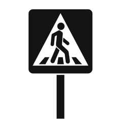 Pedestrian sign icon simple style vector