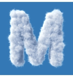 Cloud letter vector image