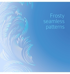 Frosty seamless patterns vector image