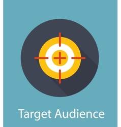 Target audience flat concept icon vector