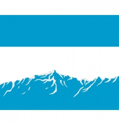Mountains with flag of argentina vector