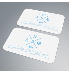 Template of business card vector