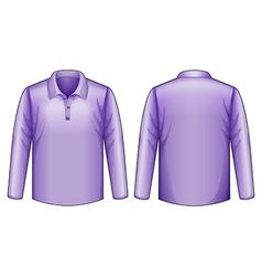 Purple shirt vector