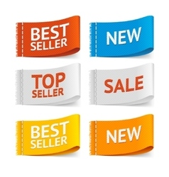 Fabric clothing sale labels vector