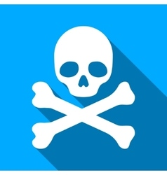 Death flat long shadow square icon vector