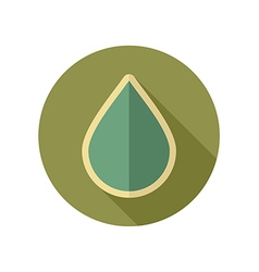 Water rain drop retro flat icon weather vector