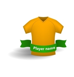Orange sports shirt icon cartoon style vector image