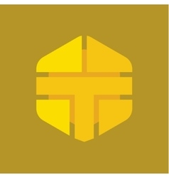 Logo letter t in the form of abstraction yellow vector
