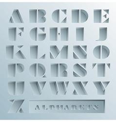 Hole Alphabets Font Style vector image