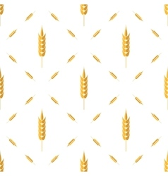 Seamless wheat pattern set of ears vector